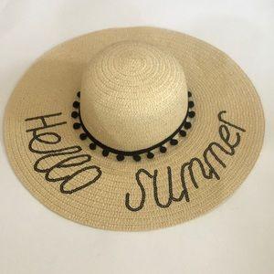 """Accessories - 👣 """"HELLO SUMMER"""" FLOPPY BEACH HAT! 👣"""